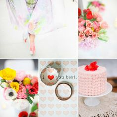 PInk, yellow and red wedding color palette we adore!