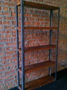 Industrial reclaimed wood bookcase / shelf. $585.00, via Etsy.