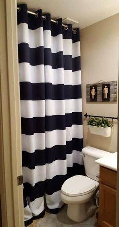 Cool & Unique double Shower Curtain Ideas for Small Bathroom Small Bathroom With Shower, Small Showers, Bathroom Kids, Bathroom Colors, Bathroom Shower Curtains, Long Shower Curtains, Relaxing Bathroom, Tropical Bathroom, Bathroom Plants