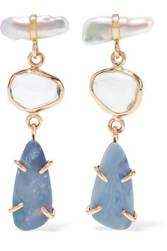 Melissa Joy Manning | 14-karat gold, sterling silver and multi-stone earrings | NET-A-PORTER.COM