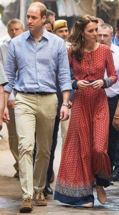 12 April 2016 - William and Kate visit the Salaam Baalak Trust in New Delhi, India