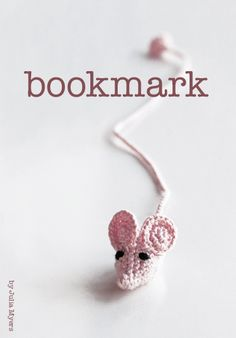 bookmark, crochet, mouse