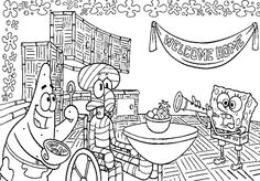 Welcome Home Squidward Coloring Page From Sponge Bob Category Select 25683 Printable Crafts Of Cartoons Nature Animals Bible And Many More