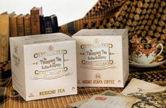 Victorian tea and coffee packaging