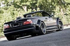 BMW E46 M3 black cabrio widebody
