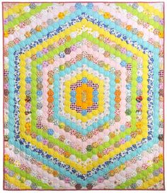 Hexagon quilt from the 70s