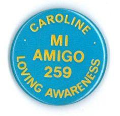 Caroline/Mi Amigo badge,1974