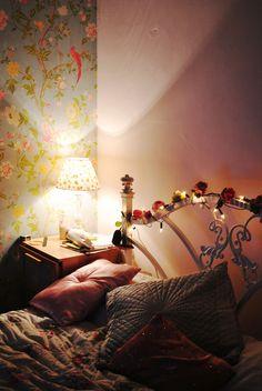 misswallflower via bedroom laa oola cosy cottage kvinna lilla