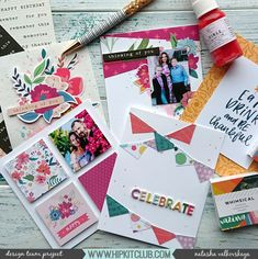 Use your scrapbooking stash for cardmaking Creative Wedding Invitations, Wedding Stationery, Hip Kit Club, Stationery Companies, Happy Design, Hand Sketch, Ink Illustrations, Personalized Stationery, Decoration