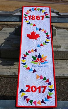 """For those of you who don't know, """"Row By Row"""" is a shop hop for quilters whereby they visit a participating shop and receive a free patte. Flag Quilt, Quilt Blocks, Row By Row, The Row, Quilting Projects, Quilting Designs, Sewing Projects, Canadian Quilts, Quilts Canada"""