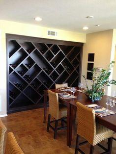 Wine rack wall