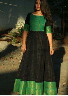 Designer saree blouse patterns - Buy Designer Gowns online from VinothnaDesigns Blouse Lehenga, Robe Anarkali, Lehnga Dress, Frock Dress, Anarkali Dress Pattern, Sari Design, Frock Design, Fancy Blouse Designs, Dress Neck Designs