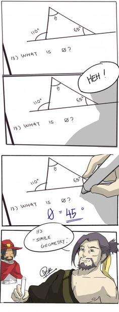 Hanzo's obsess with the geometry