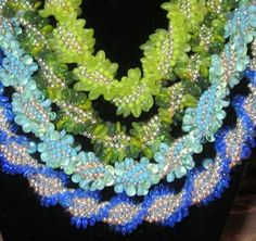 Twisting in the Wind Necklaces or Bracelets Beading Pattern by Linda Gettings at Bead-Patterns.com! Lots of individual bead weaving patterns for sale, some are FREE from various designers are available!