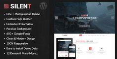 Silent - One Page Multipurpose WordPress Theme - Experimental Creative