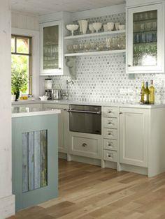Serene Gray Kitchen #homedecor