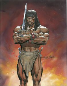 Conan by Neal Adams Fantasy Heroes, Fantasy Art, Conan The Destroyer, Conan The Conqueror, Vikings, Warrior King, Conan The Barbarian, Red Sonja, Sword And Sorcery