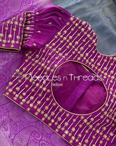 Blouse Designs Catalogue, Kids Blouse Designs, Hand Work Blouse Design, Stylish Blouse Design, Embroidery Neck Designs, Couture Embroidery, Maggam Work Designs, Fancy Dress Design, Designer Blouse Patterns