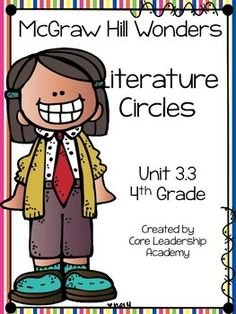 Thinkmark Literature Circle graphic organizer ~ Unit 3.3~There are 4 different levels approaching, on, ell, and advance!  Great for literacy centers! Enjoy!