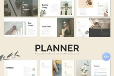 Planner Keynote Template by Simple P. on @creativemarket