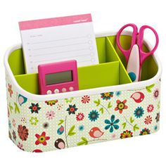 for K's locker-Melody Magnetic Organizer Bin @ The Container Store--other coordinating items as well Shop Storage, Storage Hacks, Storage Bins, Middle School Lockers, Back To School, High School, School Stuff, Dorm Room Organization, School Organization
