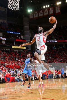 James Harden of the Houston Rockets dunks on a fast break against the... James  HardenNba PlayoffsHouston RocketsOklahoma City ThunderTexansFigAir ... fb698c478