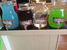 Salt water-blue koolaid, lake water-sweet tea, fresh water-water, pond punch-green Hawaiian Punch mixed with sprite Boys First Birthday Party Ideas, Boy Birthday Parties, Third Birthday, Water Pond, Lake Water, Water Blue, Fresh Water, Adoption Party, Snacks Für Party