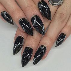 Black marble by @svnails! by nailpromagazine