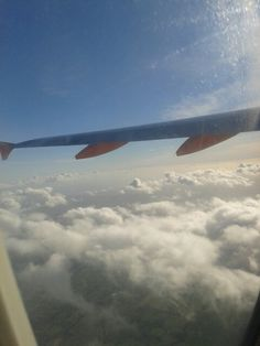 Flying to Italy. Goodbye London♥ #Airplane #Cloud #Sky