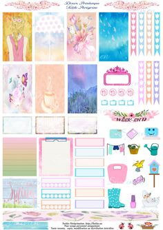 Free Printable Spring Planner Stickers