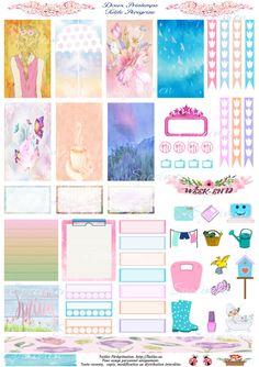 spring free printable stickers