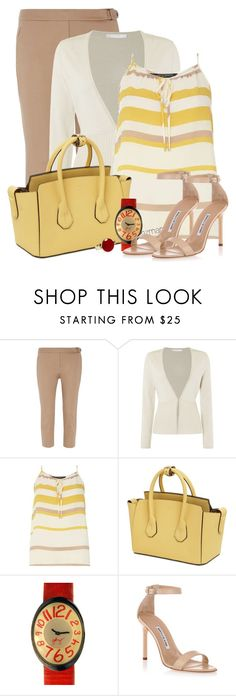 """""""Untitled #2754"""" by mzmamie ❤ liked on Polyvore featuring Dorothy Perkins, HUGO, Bally, Paul Frank, Manolo Blahnik and Aqua"""
