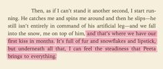 """...I can feel the steadiness that Peeta brings to everything."" Sigh."