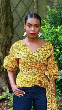 Beautiful Ankara Styles with a Sauce Hello ! Fashionistas ,today we bring to you some of Beautiful Ankara Styles with a sauce that will help you spice up your weekend and inspire you a… African Print Dresses, African Fashion Dresses, African Attire, African Wear, African Women, African Dress, African Style, African Print Fashion, Africa Fashion