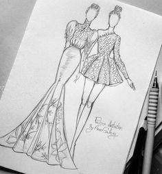 Fashion Drawing Tutorial, Fashion Figure Drawing, Fashion Model Drawing, Fashion Drawing Dresses, Dress Design Drawing, Dress Design Sketches, Fashion Design Sketchbook, Fashion Design Drawings, Fashion Sketches