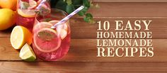 These homemade lemonade recipes are light on sugar and big on flavor. Making homemade lemonade is the way to go when you want to cut down on processed sugar and instead make a delicious, refreshing drink that epitomizes summer.
