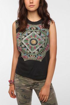 Title Unknown Boho Octo Muscle Tee Online Only