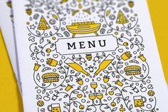 Menu for premium restaurants by Midnight Space on @creativemarket
