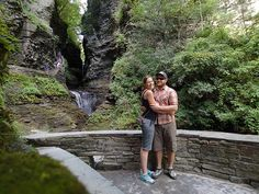 Adventure 16 Softgoods Buyer Laurel Grinnell and her boyfriend Brook observing waterfalls around Keuka Lake.