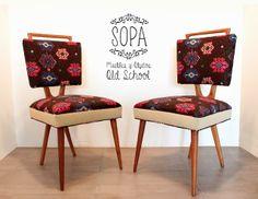 Sillas Americanas Escandinavas restauradas por SOPA, Muebles y Objetos Old School