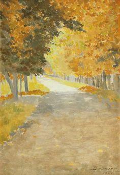 Beautiful fall watercolor