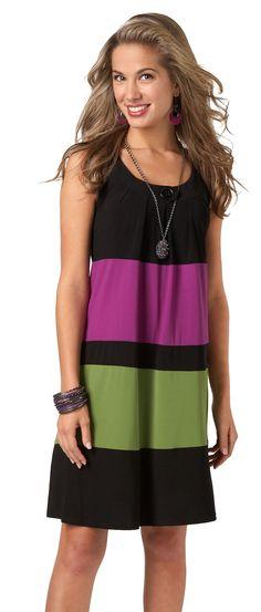 Neon Color Block Dress #getbacktobealls