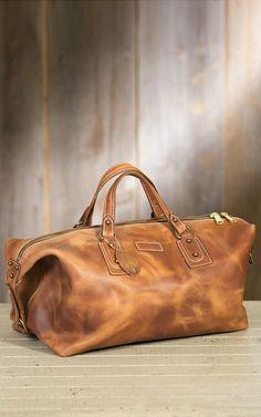 Coronado Americana Leather Duffel Bag   Overland Sheepskin