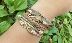 Wings Bracelet,time Is What You Make Of It,personalized Jewelry, Love Bracelets, Infinity Bracelets, from Picsity.com
