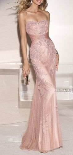 Gorgeous gown in rose pink