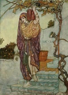 Edmund Dulac ArtThe Rubaiyat: Came Shining through the Dusk