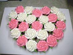 rose cupcake design