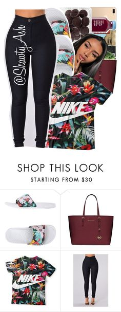 """""""Untitled #420"""" by shawtyash ❤ liked on Polyvore featuring NIKE and MICHAEL Michael Kors"""