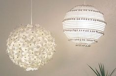 Make flowers out of egg cartons and attach lights for bedroom :) (classroom?)    TONS of light ideas!