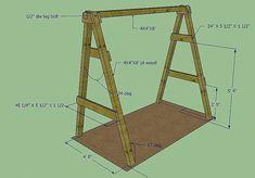 Одноклассники A Frame Swing Set, Porch Swing Frame, Backyard Swing Sets, Diy Swing, Bench Swing, Wood Swing, Wooden Swing Set Plans, Backyard Shade, Wooden Swing Frame